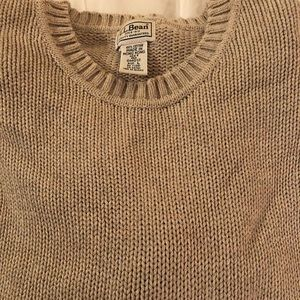 LL Bean men's camel color sweater - large